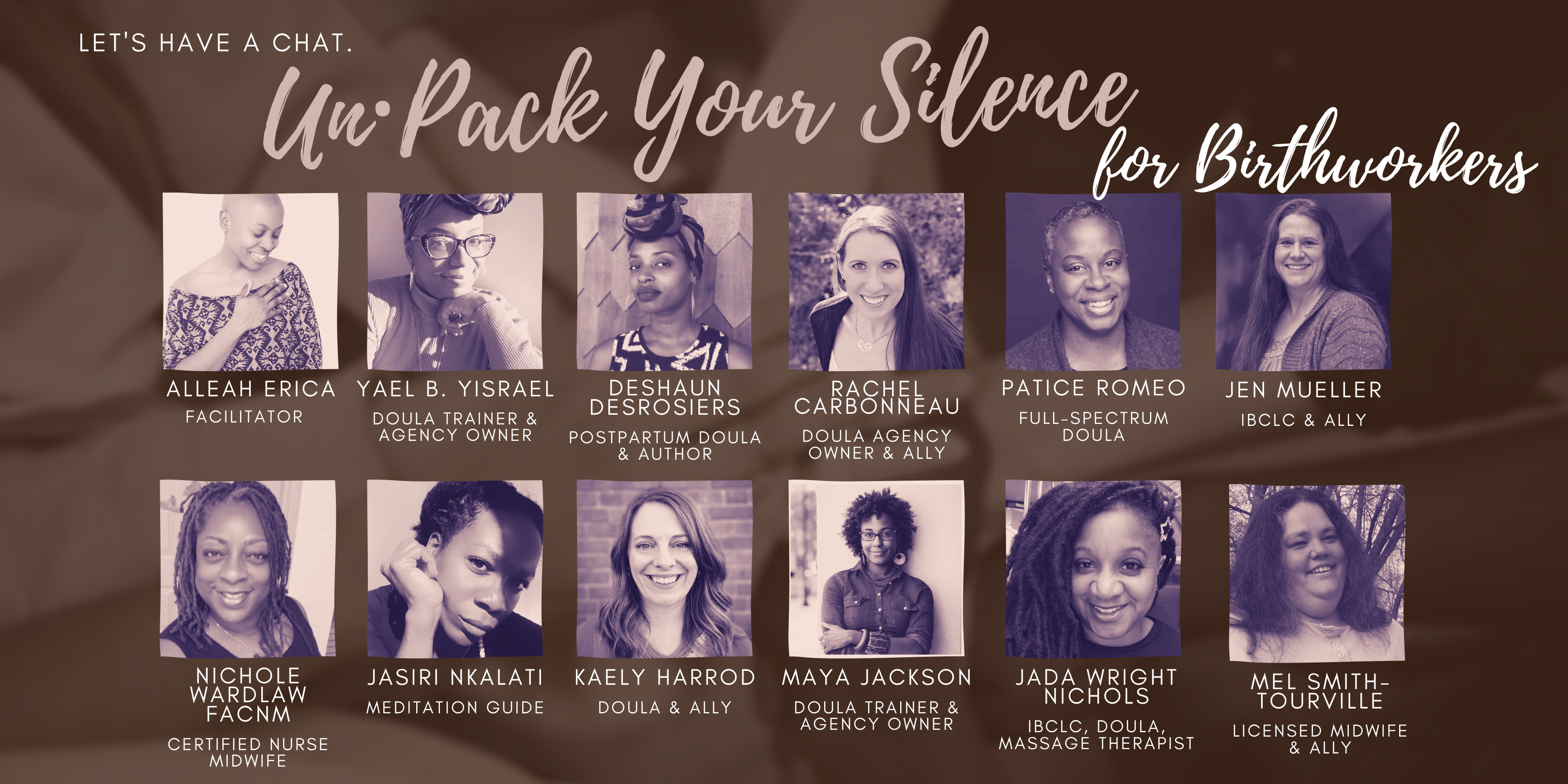 un·Pack Your Silence Panellists